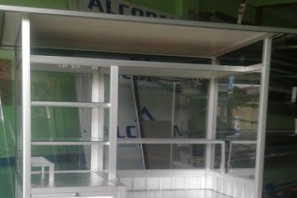 Gerobak Aluminium pesanan Bpk Walu untuk Jualan Gorengan di Cipinang Muara Jatinegara Jakarta Timur