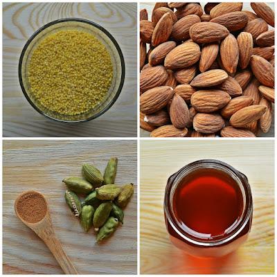Ciasteczka jaglano-migdałowe z cynamonem - składniki