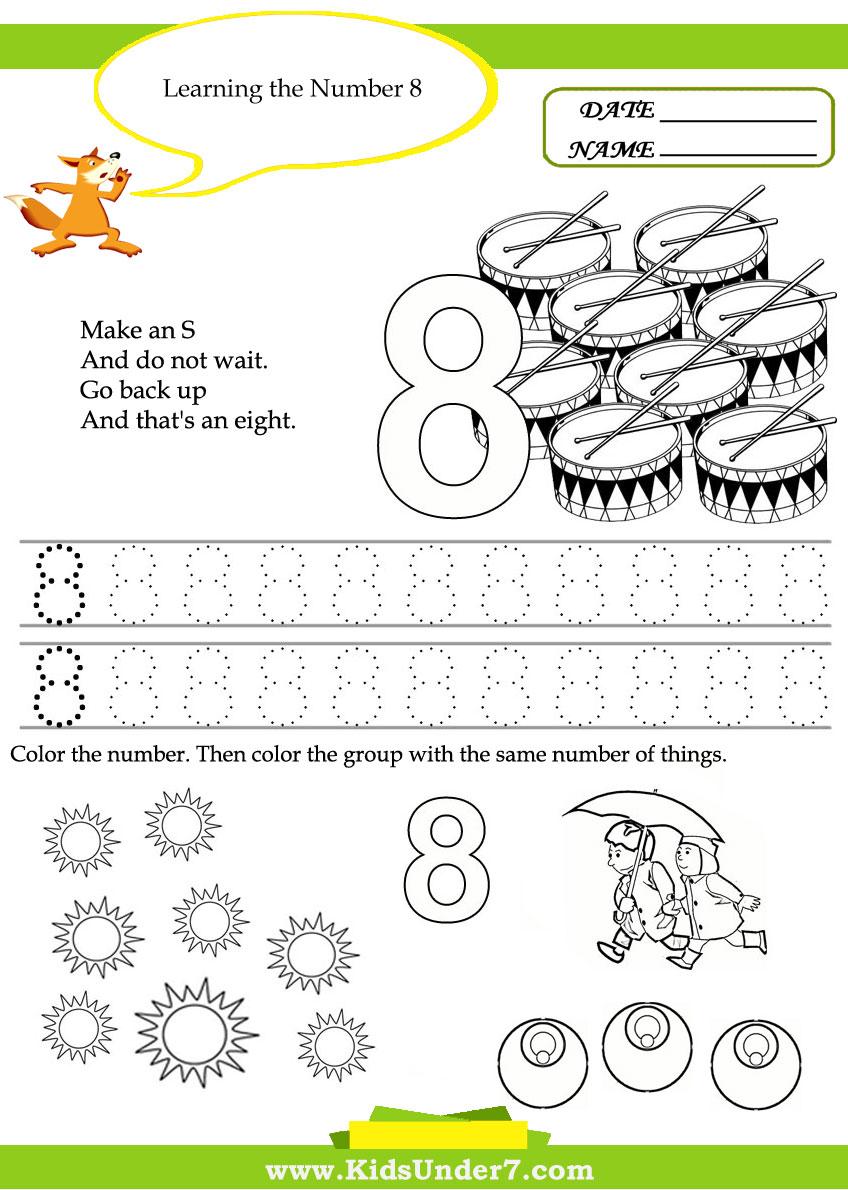 Kids Under 7: Free Printable Kindergarten Number Worksheets