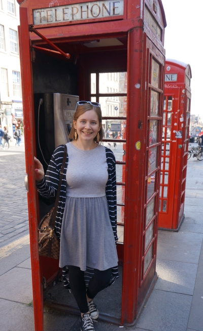 grey skater dress converse striped duster royal mile red phone boxes Edinburgh may spring | awayfromblue