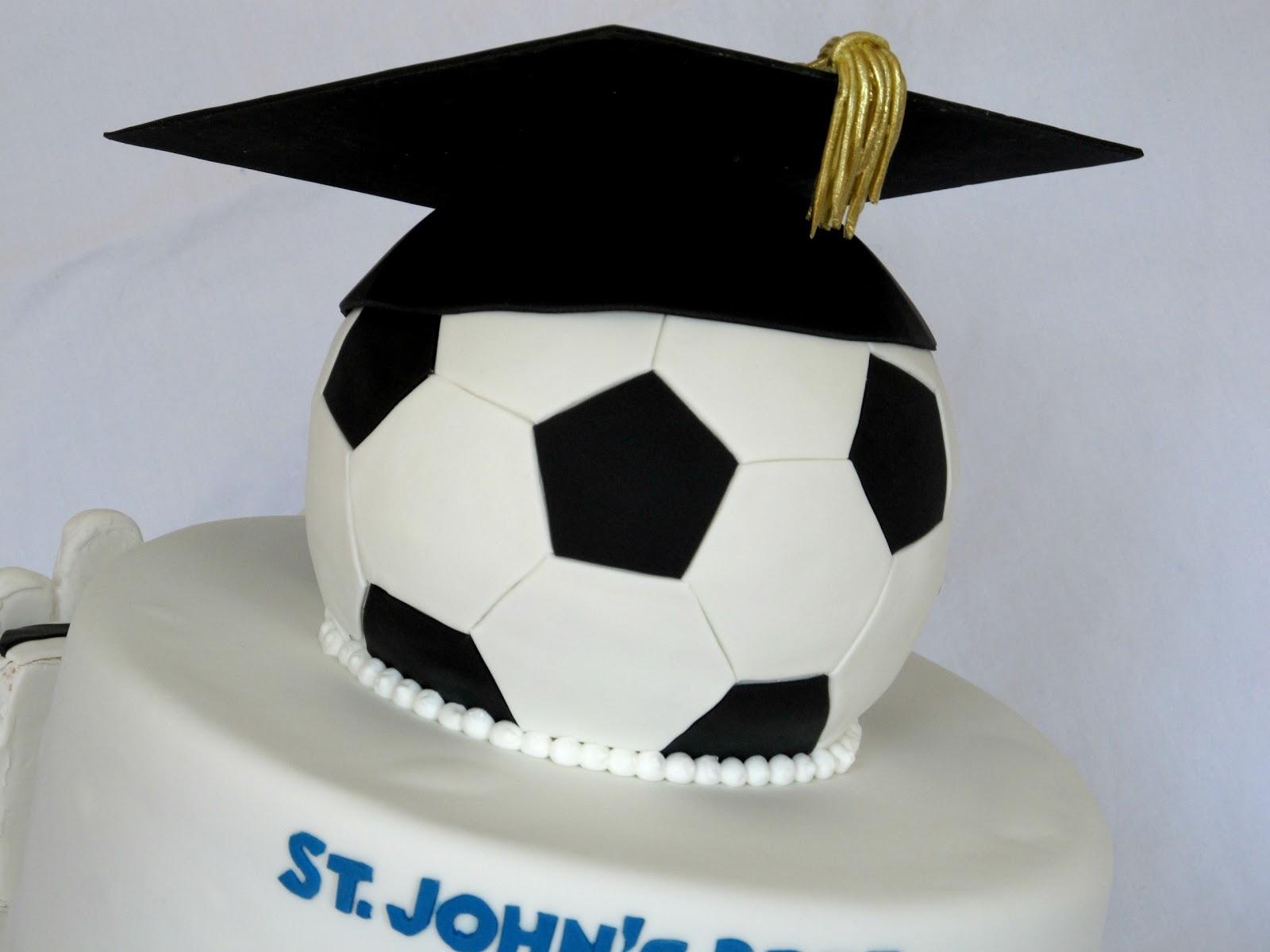 Happy Cakes Bakes Soccer Graduation Cake