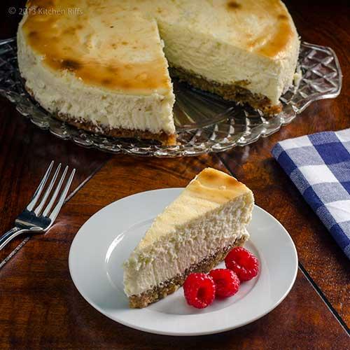 Lemon Cheesecake with Walnut Crust