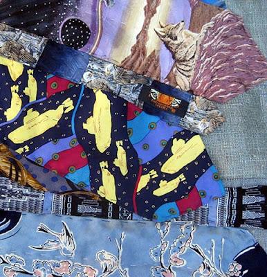 Gefilte quilt necktie archeology quilt for Space shuttle quilt