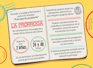 Como prorrogar el pasaporte venezolano. Requisitos para prorrogar el pasaporte venezolano. Precio para prorrogar el pasaporte venezolano.