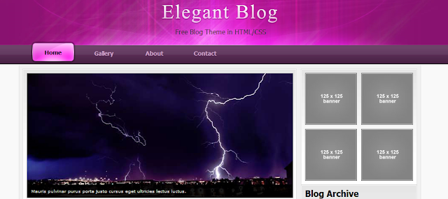 Purple Magazine Blogger Template