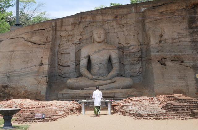 A Buddha wall carving - Polonnaruwa, Sri Lanka