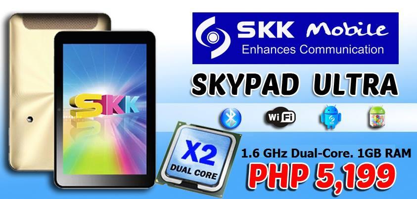 SKK Mobile Skypad Ultra Jellybean tablet price and specs