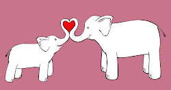 elephant drawing mom drawings clipart daughter mother cartoon mommy recently forest did line cliparts ink clip annie elephants annieink daughters