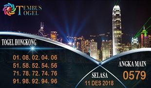Prediksi Angka Togel Hongkong Selasa 11 Desember 2018