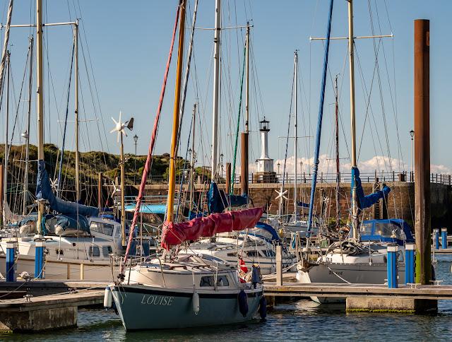 Photo of Maryport Marina basking in the sunshine on Sunday