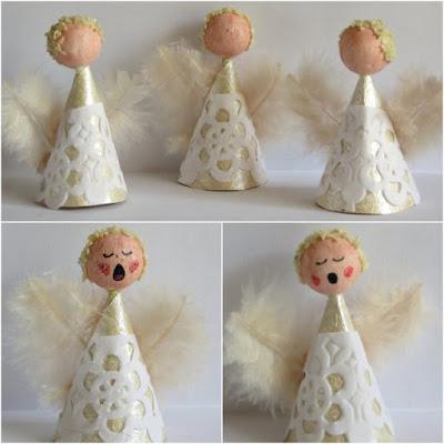 Singing Angel Choir Ornaments 4