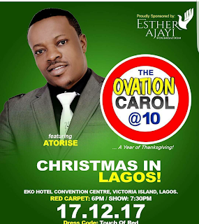 Lanre Teriba Set To Spice Up 10th year Ovation Christmas Carol In Lagos
