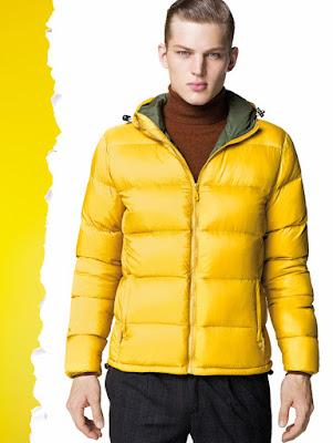 Erkek şişme mont modelleri sarı renk