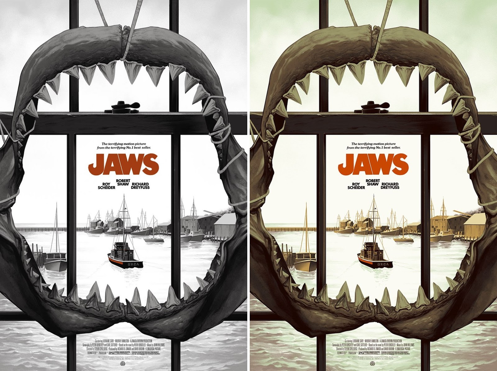 5848cc93 SDCC 2017 Exclusive Jaws Variant Movie Poster Screen Print by Phantom City  Creative x Mondo