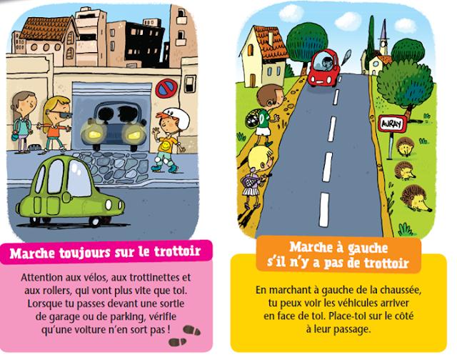 كيف يتعامل الطفل في الطريق بحث بالفرنسية،