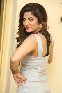 Kavya Looks super cute in a light grey sleeveless Short Jump Suit