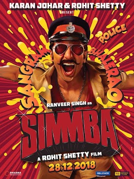 Simmba new upcoming movie first look, Poster of Ranveer Singh next movie download first look Poster, release date
