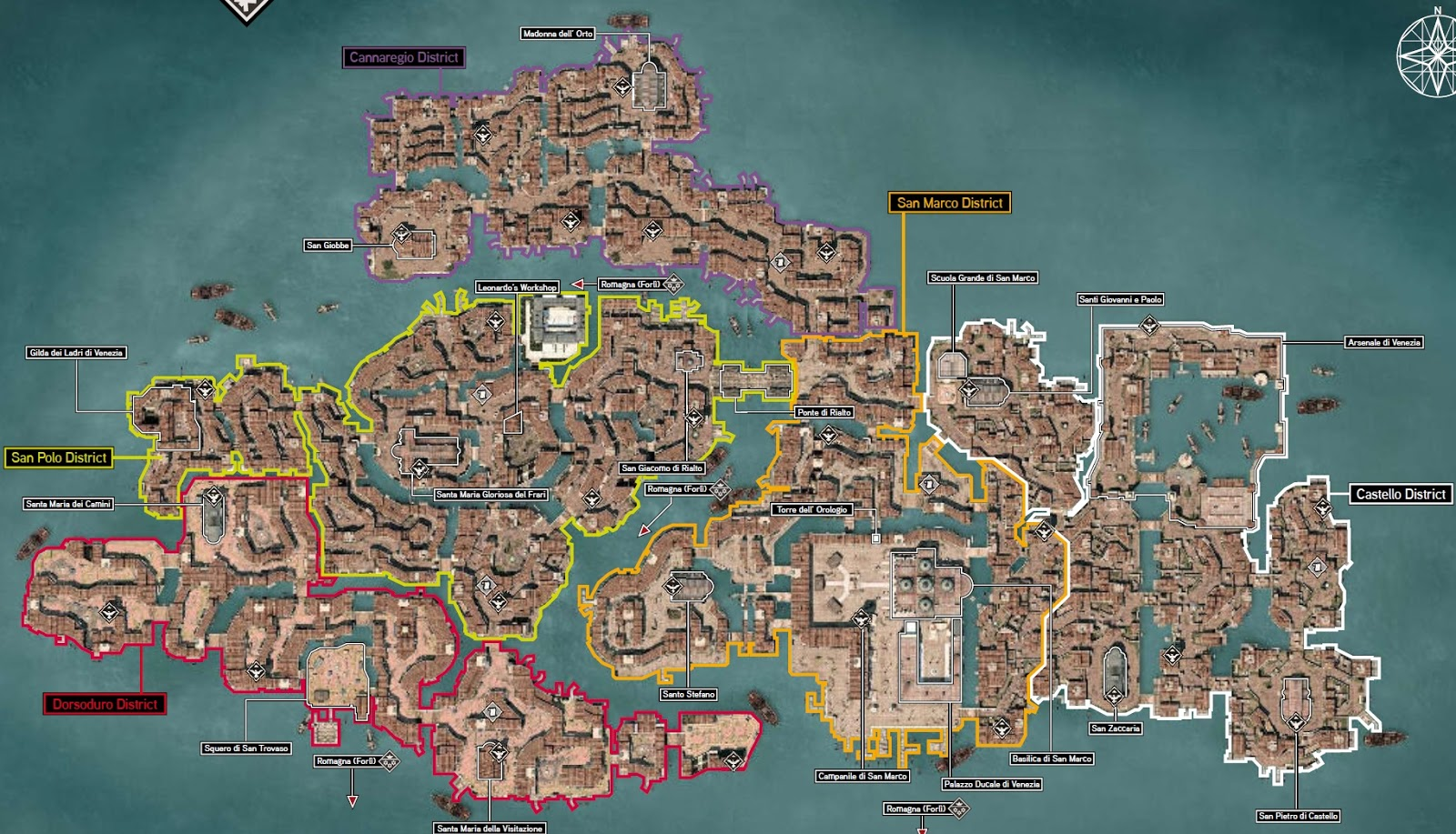 Mapas De Farmeo Assassins Creed 2 Atalayas Y Cdices-9508