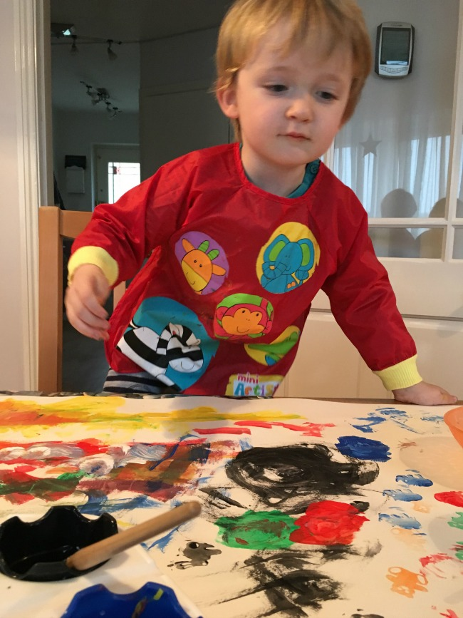 Painting-and-Photography-image-of-toddler-painting
