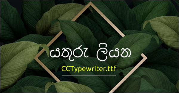 Although we are now writing in Sinhala using our computer, we used the typewriter machine for the past.    These typewriters were used to make special office documents. It's an amazing experience for you who worked in an office about five years ago. This is the type of text that is typed by that machine.