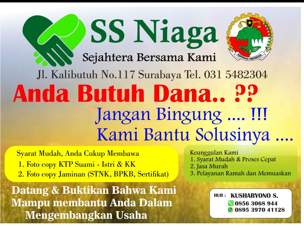 Pinjaman Online Kalibutuh Surabaya