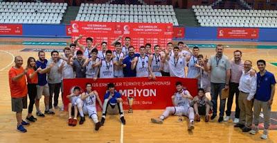 U16 Türkiye şampiyonu Anadolu Efes