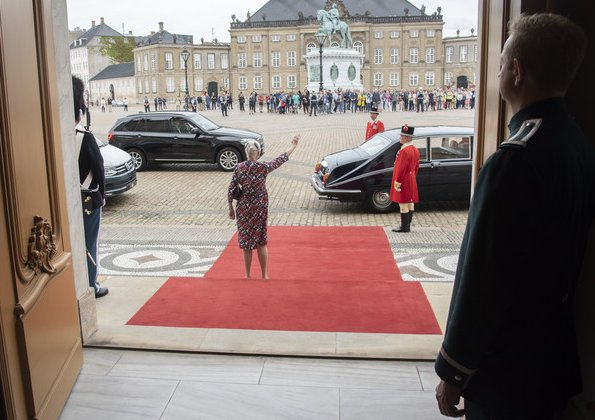 Queen Margrethe, Crown Prince Frederik and Crown Princess Mary