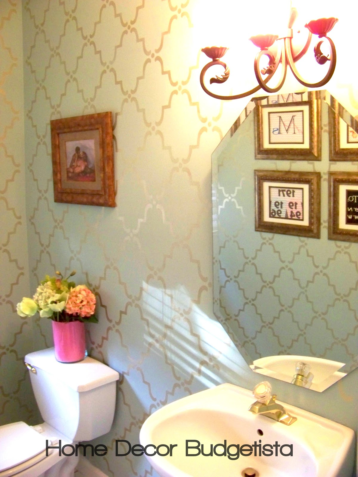 Home Decor Budgetista: Powder Room - Thirty Dollars Update