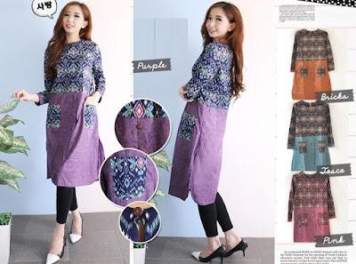 Jual Tunik Tunic Dress Batik - 12281