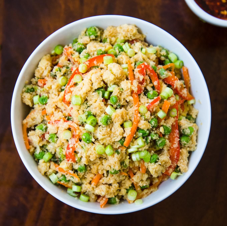 Cauliflower Fried Rice [Cooking Video]