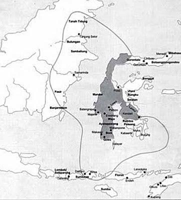 Gambar Peta wilayah Kerajaan Gowa Tallo