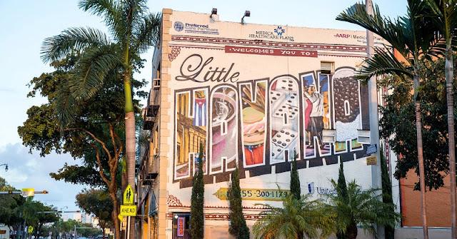 Bairro Little Havana em Miami