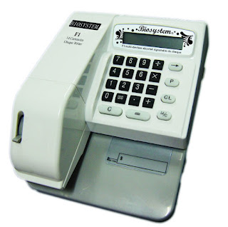 CHEQUE WRITER F1 - 14 CURRENCIES