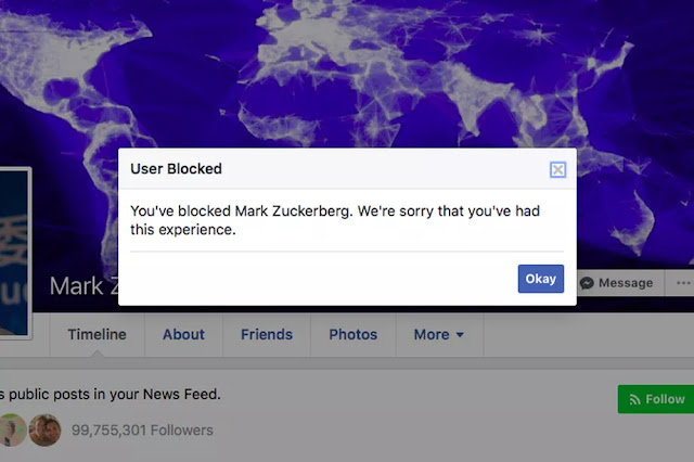 Facebook Swiftly Fixed A Bug That Stops You From Blocking Mark Zuckerberg.