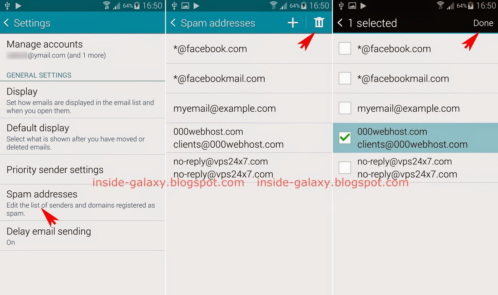 Samsung Galaxy S5: How to Remove Email Address or Domain
