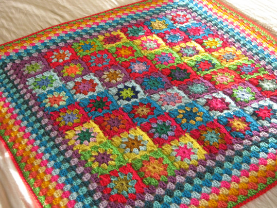 For The Love Of Crochet Along Sale Rainbow Kaleidoscope Blanket