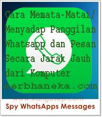 Cara Memata-Matai/Menyadap Panggilan Whatsapp dan Pesan  Secara Jarak Jauh dari Komputer. 1