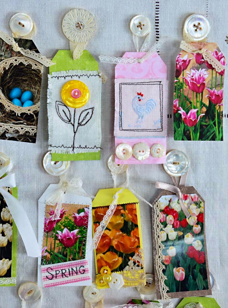 Scrapbook Spring tags by Jeanne Selep