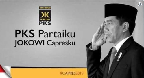 Beredar Poster 'PKS Partaiku Jokowi Capresku' Di Medsos, PKS: Itu Fitnah!