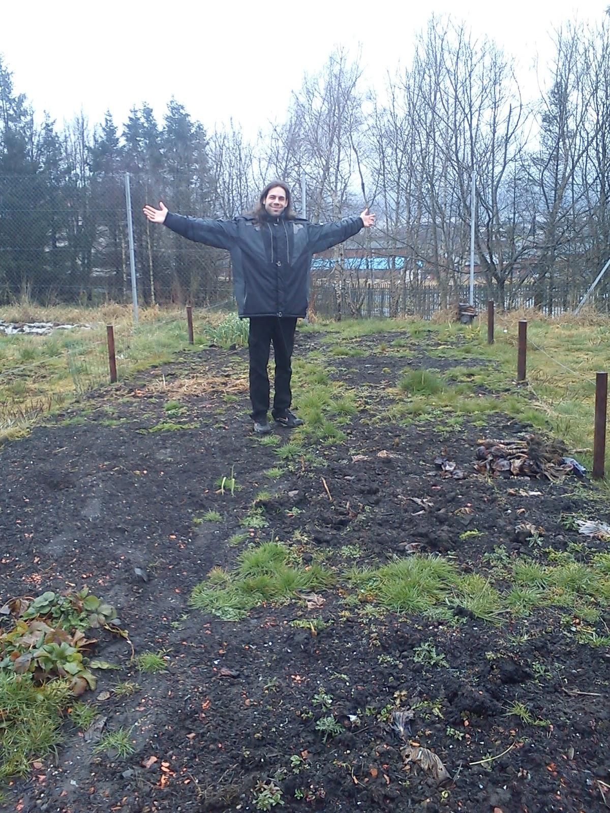 A saját kert részünk Glasgow egyik parkjában