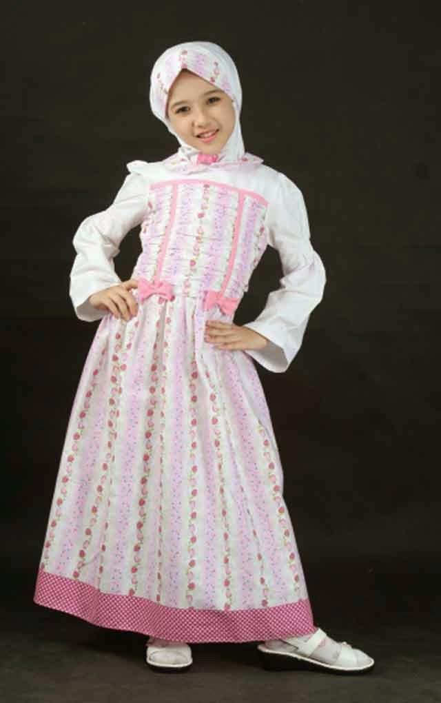 Foto Baju Gamis Anak Lucu Hijab Nemo
