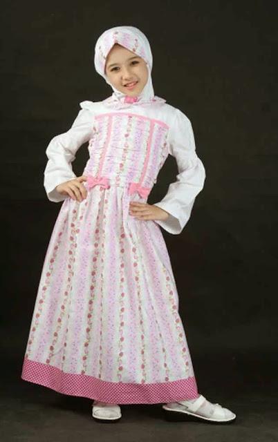 Contoh Desain Baju Muslim Anak Perempuan Terbaru
