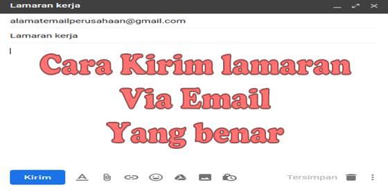 cara kirim lamaran via email yang benar