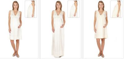 Vestidos para embarazadas color blanco o marfil