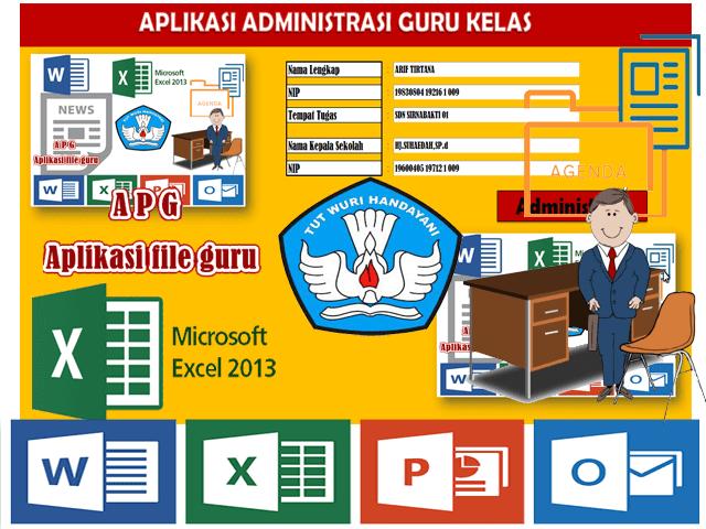 Aplikasi Adminitrasi Guru Kelas 1 2 3 4 5 6 Dalam 1 Aplikasi Format Excel