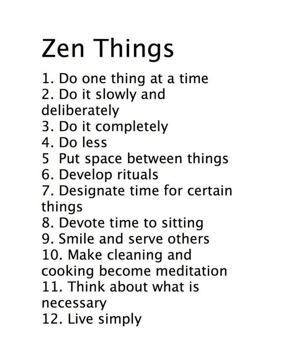 Zen Things pinnable infographic - found on Hello Lovely Studio