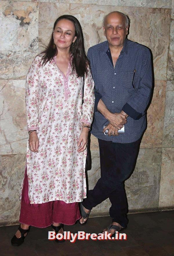 Soni Razdan, Mahesh Bhatt,  Rang Rasiya Movie Premiere Photos
