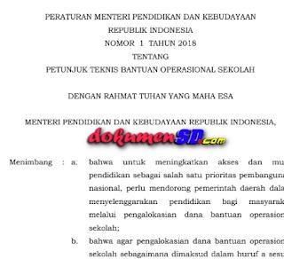Juknis BOS Tahun 2018 Jenjang SD SMP SMA SMK