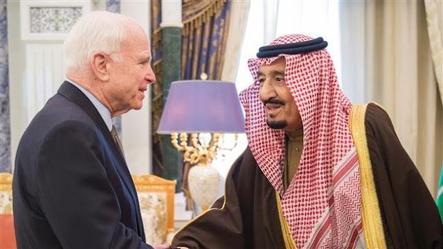 US Senator John McCain meets with Saudi King Salman in Riyadh