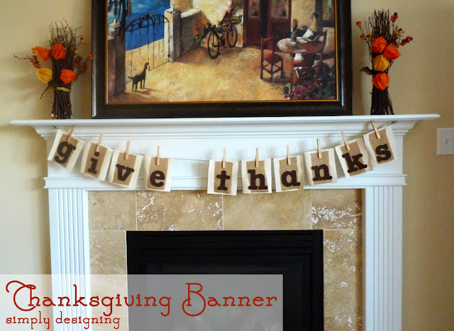 Fall Bunting | #falldecor #fallbanner #fall #givethanks #thanksgiving #banner #bunting #burlap #sizzix